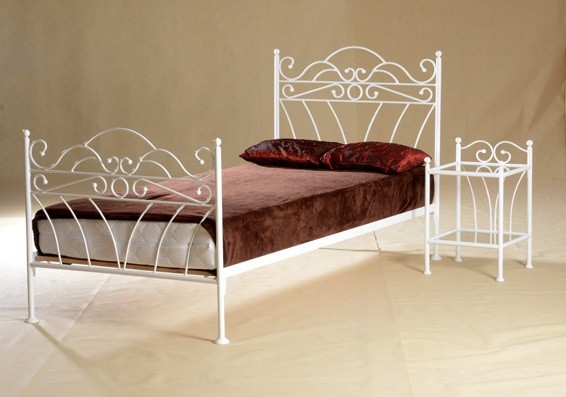 44a2d64aef49 Kovová postel Viking 90 x 200 cm - barva bílá